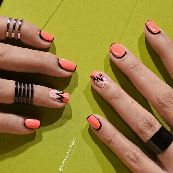 16 Ways to Pull Off Outlined Nails