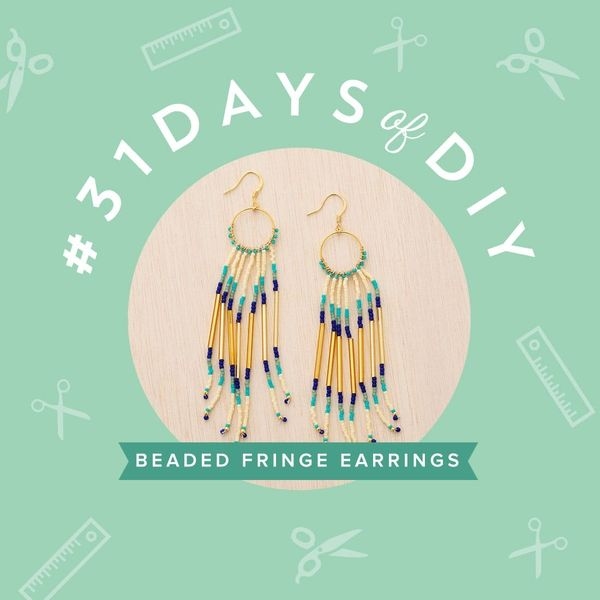 You Need to Make These Beaded Fringe Earrings