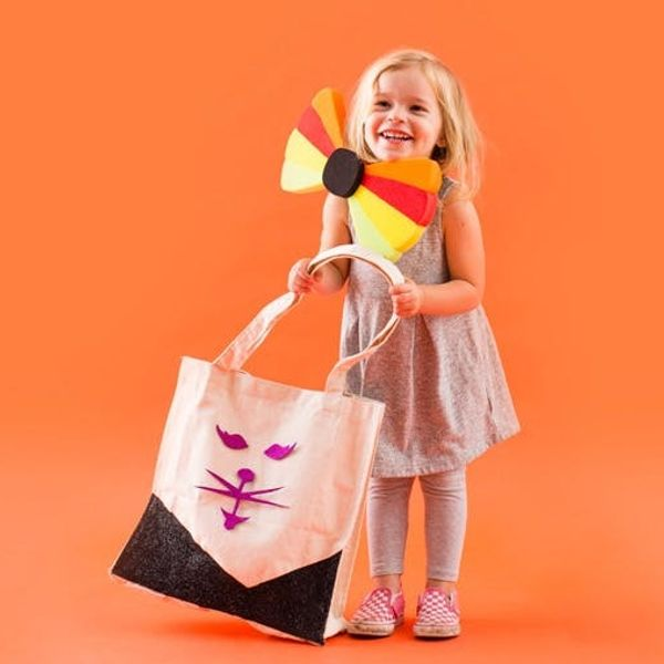 Turn Canvas Totes Into Tricked Out Treat Bags for Your Little Ones