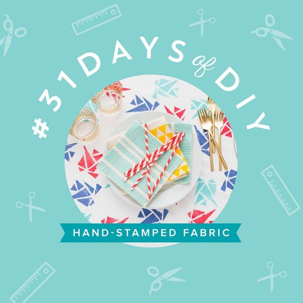 Make a Hand-Stamped Tablecloth and Backdrop in One