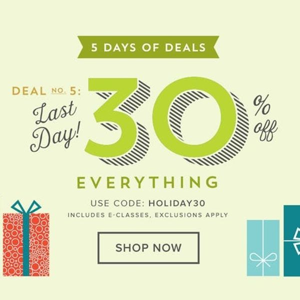 Today Only: 30% Off EVERYTHING in the B+C Shop