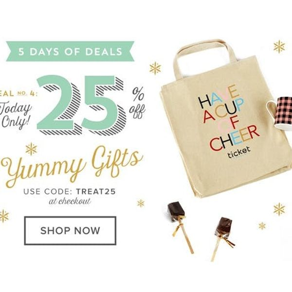 Treat Yo Self: 25% Off Yummy Gifts in the Shop