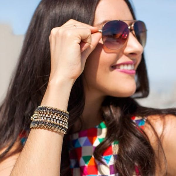 Ooh La la! Chic DIY Rhinestone Statement Bracelets