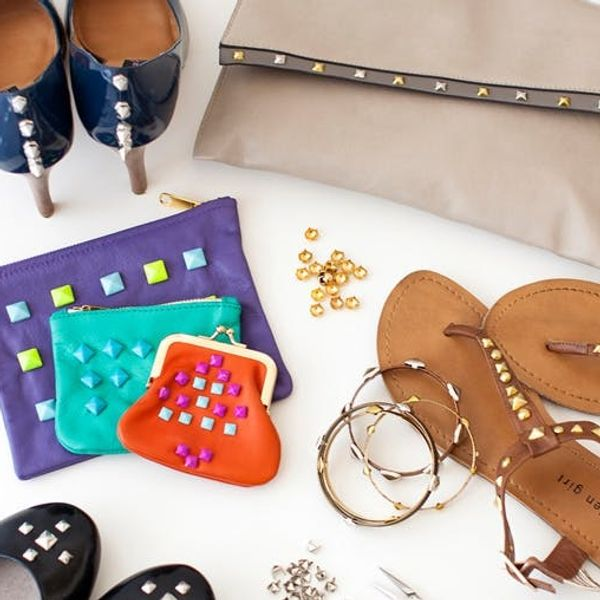 Video: How to Make a DIY Leather Studded Clutch