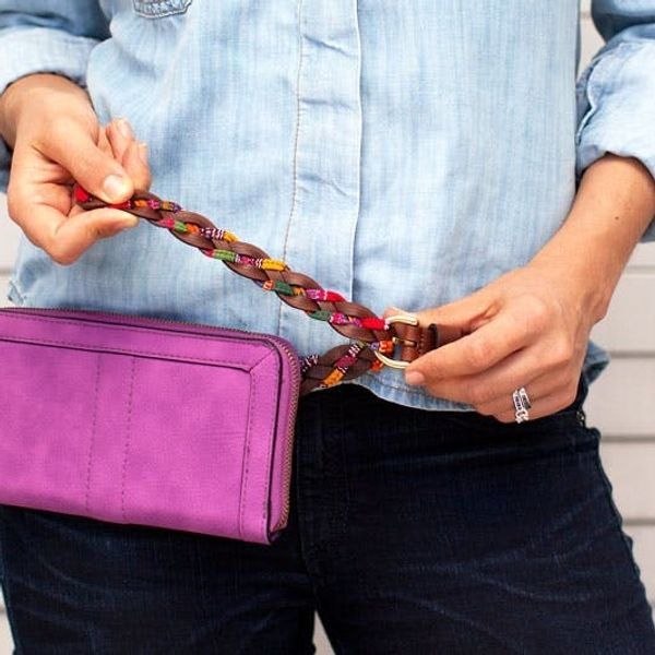 How to Turn a Clutch into a Chic Fanny Pack