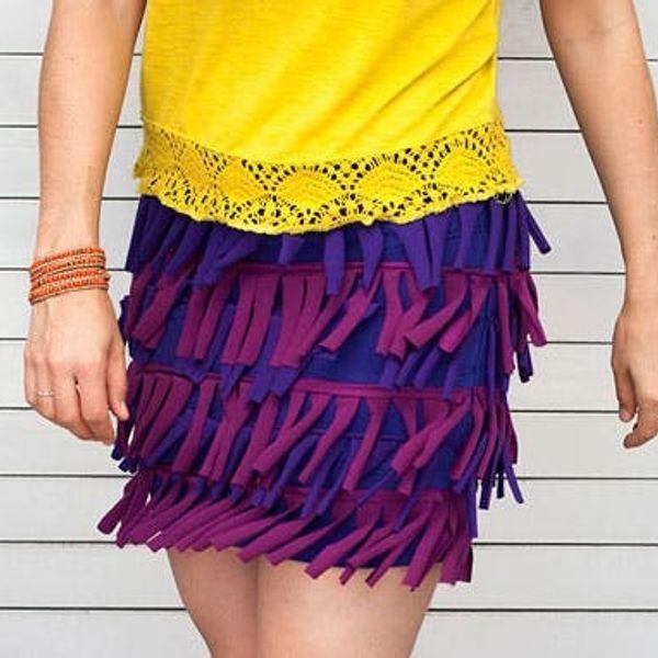 How to Make Your Own Flirty Fringe Skirt