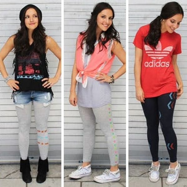 5 Ways to Stencil and Style Your Leggings