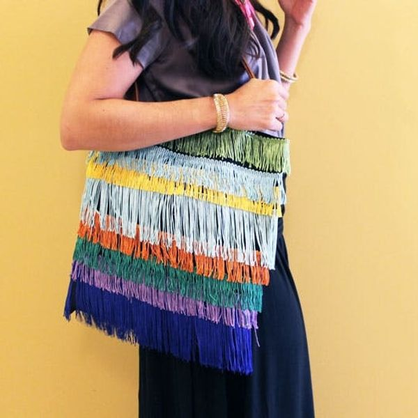 How to Make Your Own Fun Fringe Tote