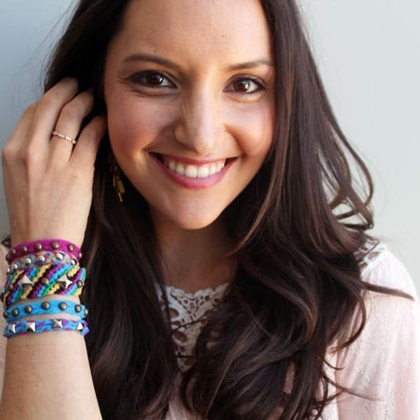 You'll Never Guess What We Used to Make These Studded Bracelets!
