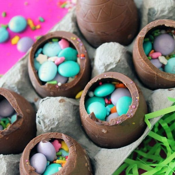 How to Make Hollow Chocolate Confetti Eggs