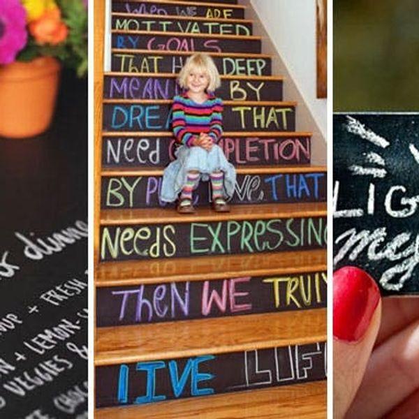 Chalk It Up: 40 Creative Ways to Use Chalkboard Paint