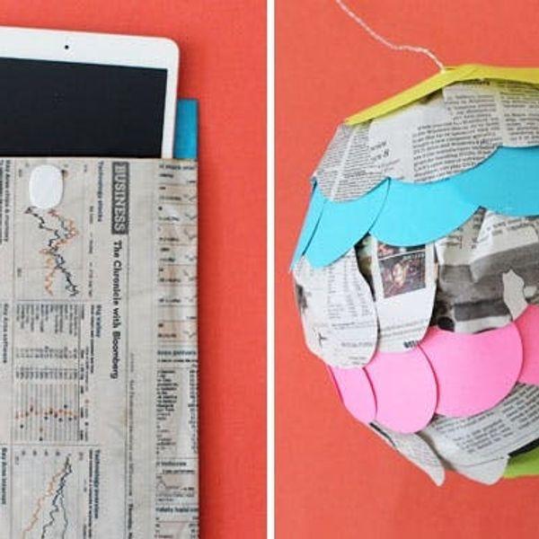 12 Creative Ways to Repurpose Newspaper