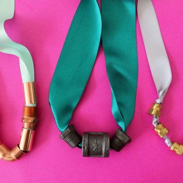 Hardware Hack: DIY Ribbon Statement Necklaces