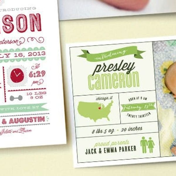 Vote on Your Favorite Baby Announcement, Win $250 on Minted!