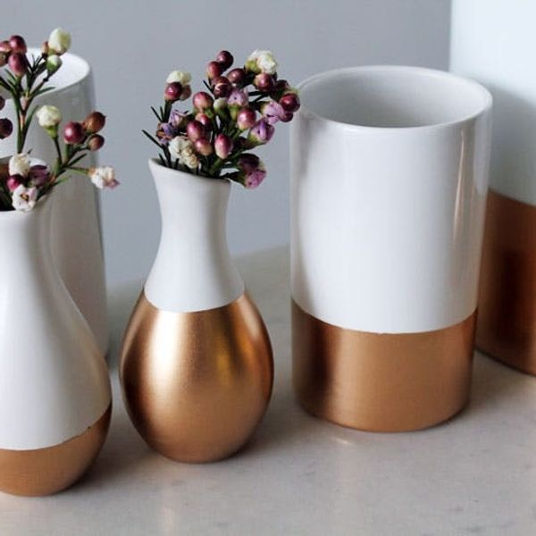 DIY Basics: Gold-Dipped Ceramics