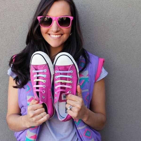 Channel Your Inner 80s Teen with DIY Neon Converse