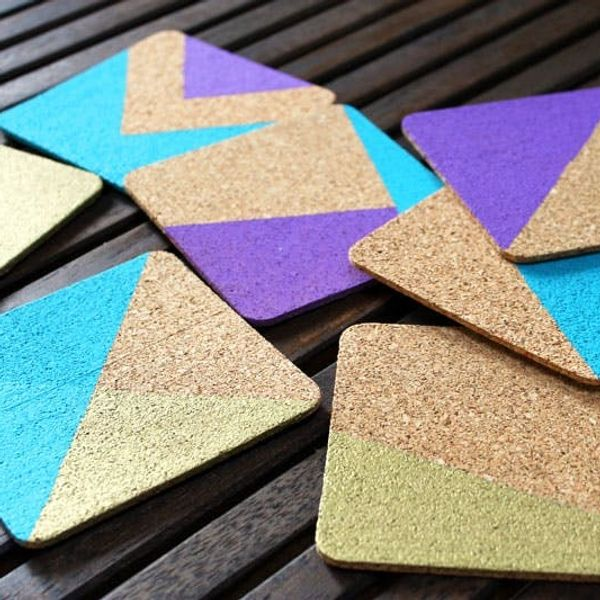 How to Create Chic and Colorful Cork Coasters