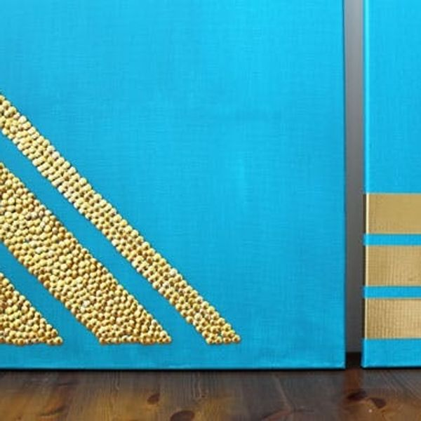Thumbtacks + Tape = 2 Chic and Easy Art Projects