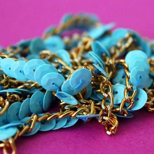 How to Create Your Own Sequined Chain Necklace