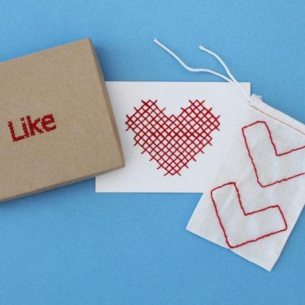 3 Simple Ways to Cross-Stitch Your Valentine's Goodies