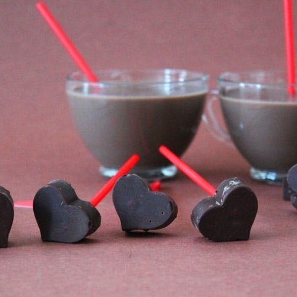 Hot Chocolate on a Stick — Just Add Milk!