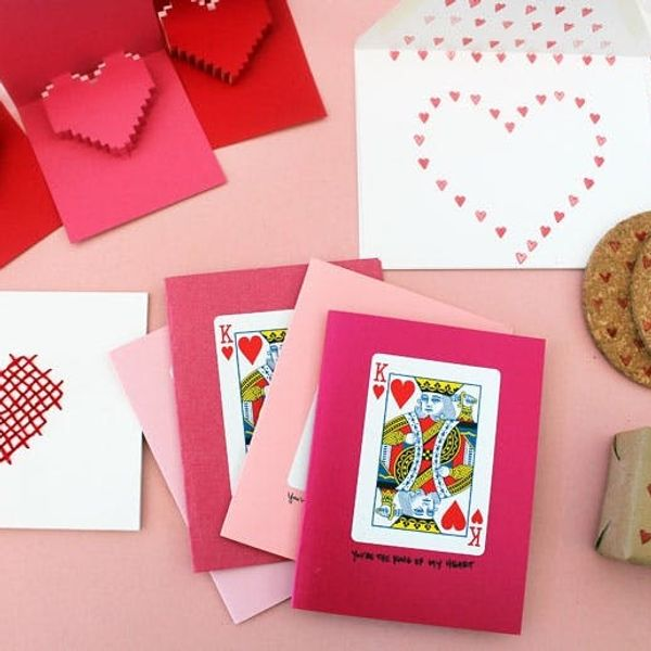 Will You Be Our Valentine? 4 Quick + Easy DIY Stationery Ideas