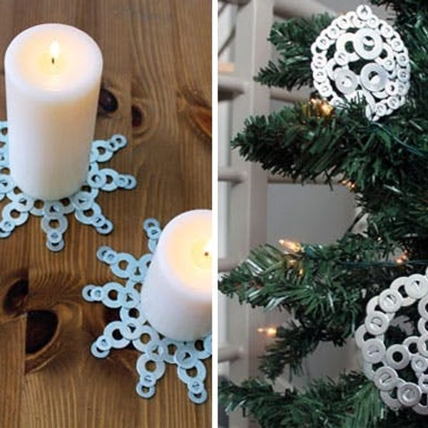 How to Turn Washers into Snowflakes