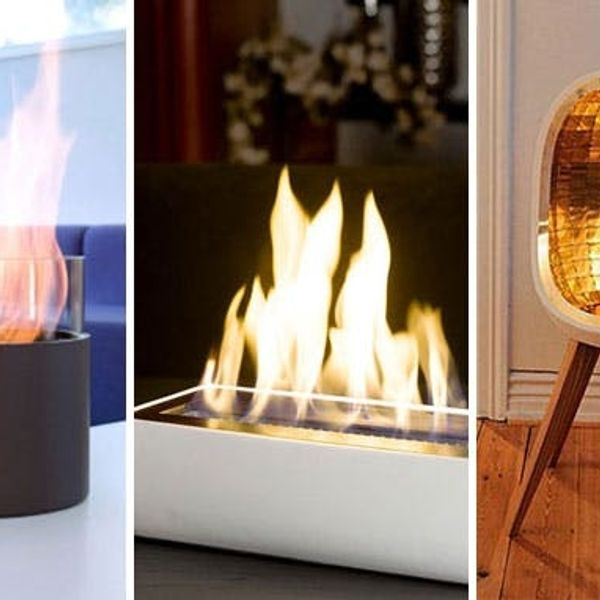 10 Portable Fireplaces for Petite Places
