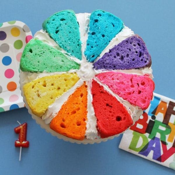 Introducing the Color Wheel Cake