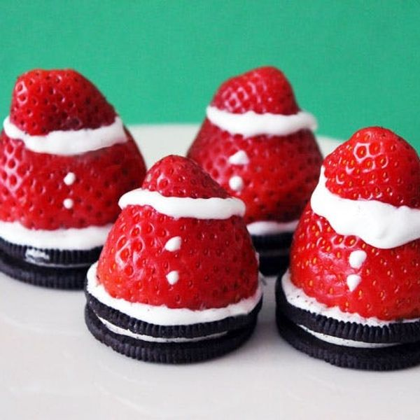 Spiked Strawberry Santas!