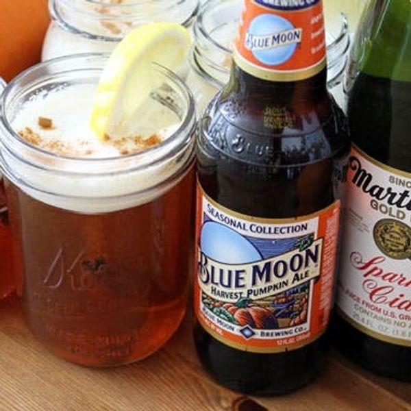 Celebrate Oktoberfest with Our Sparkling Pumpkin Cider Beertail!