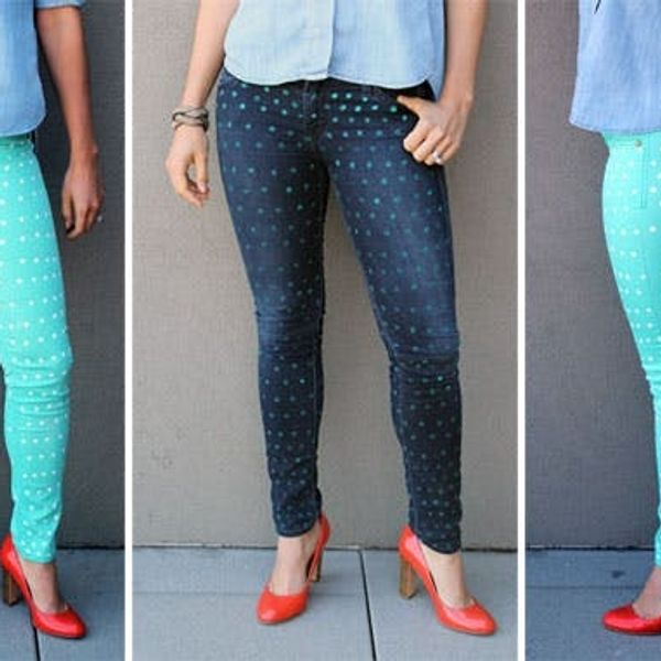 The Easiest Way to Polka Dot Your Pants