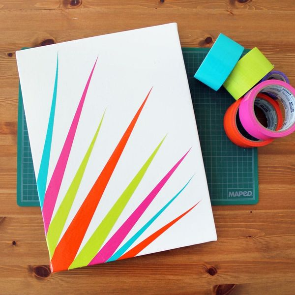 DIY Duct Tape Canvas Art in 90 Seconds
