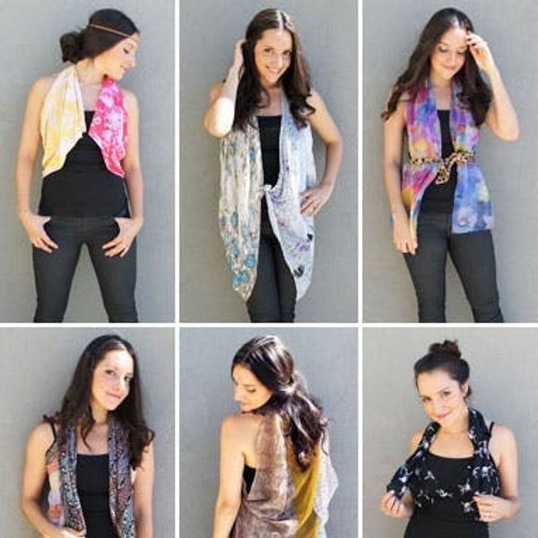 10 Ways to Turn a Scarf into a Vest