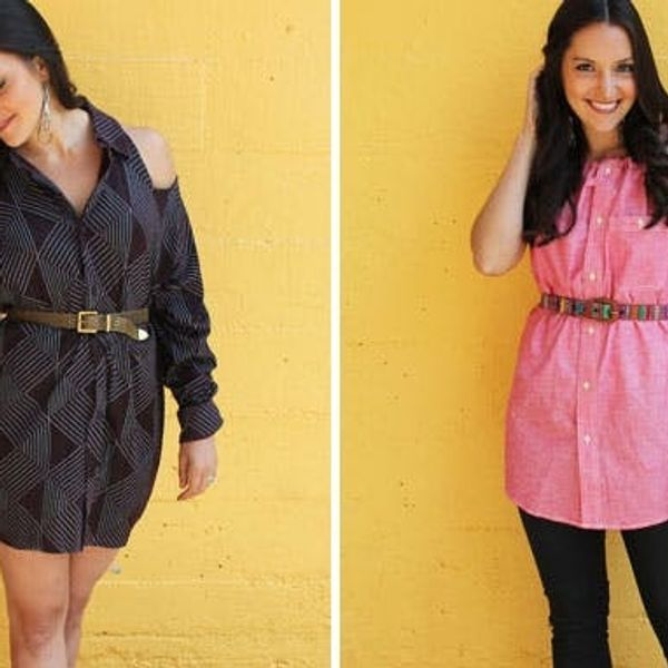 2 Ways to Turn a Men's Shirt into a Chic Shirt Dress