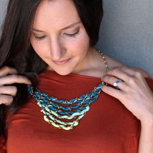 DIY Tiered Ombre Necklace