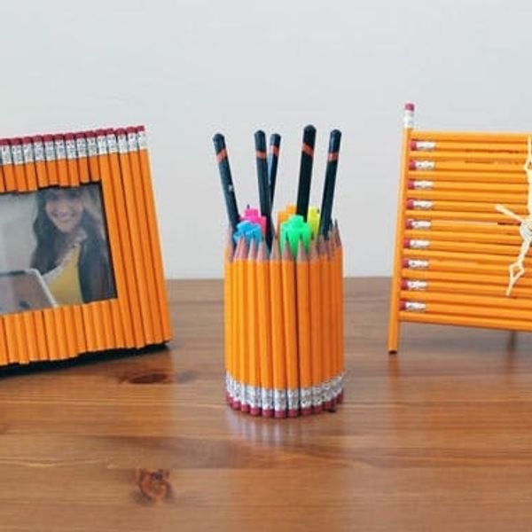 How to Turn Old Pencils into New Desk Accessories