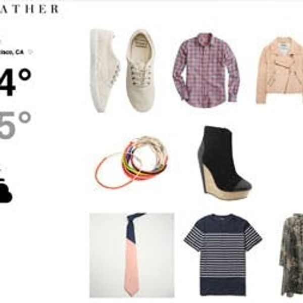 Wevther: A Weather Forecast In Outfit Form