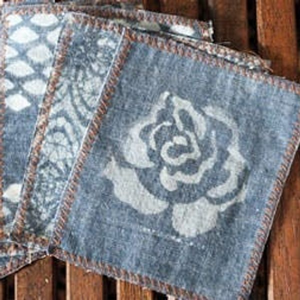 Upcycle Your Old Jeans into Chic Cocktail Napkins