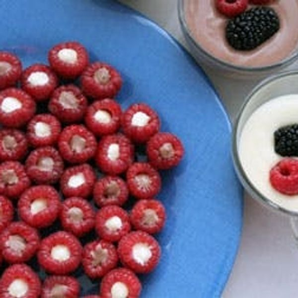 Spiked Raspberry Pudding Bites