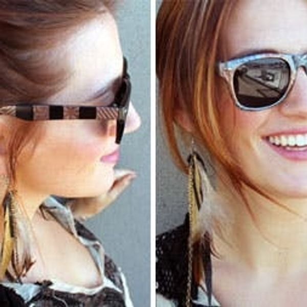 Use Magnetic Nail Polish to Make DIY Tortoise Shell Sunglasses