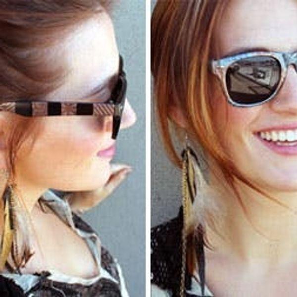 Use Magnetic Nail Polish to Make DIY Tortoise Shell Sunglasses