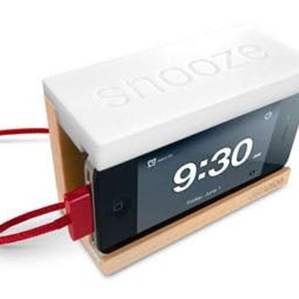 Snooze! An iPhone Alarm Dock with a Giant Snooze Button