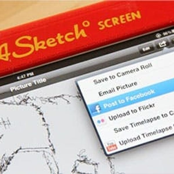 Transform Your iPad into an Old School Etch A Sketch