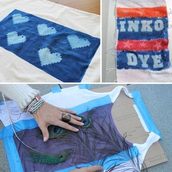 Use the Sun to Make Custom Printed Fabric with Inkodye