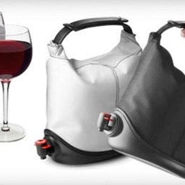A Purse That Doubles as a Wine Cask