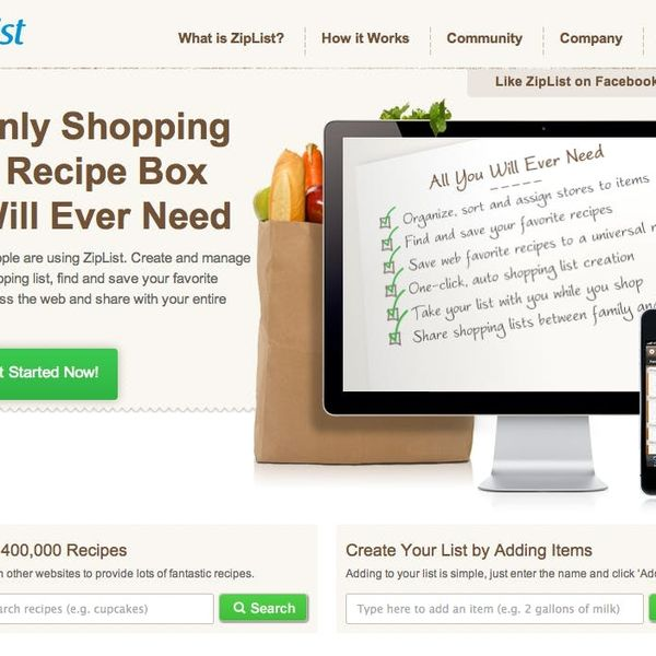 ZipList Makes Grocery Shopping & Meal Planning Effortless