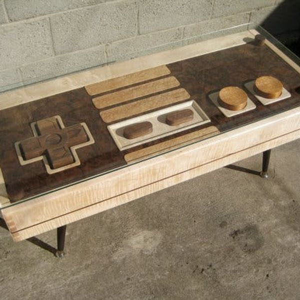 Nerds Rejoice! The Nintendo Controller Coffee Table Is Real