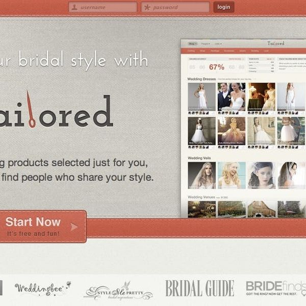 Tailored is Pinterest for Wedding Shopping