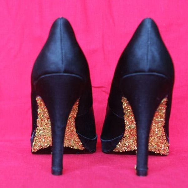 DIY Glitter Heels: Add Some Sparkle to Your Step